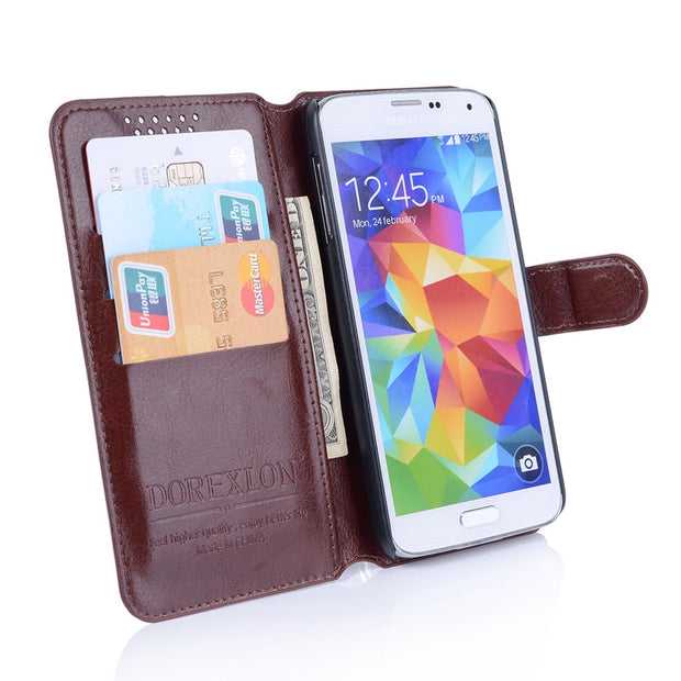 outlet store c097f e31df Luxury Retro Flip Case For Sony Xperia E1 D2004 D2005 Leather ...