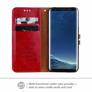 Luxury Retro Leather Case For Samsung Galaxy S8 Plus Card Stand PU Wallet Case For Samsung S8 Leather Flip Wallet Cover Case