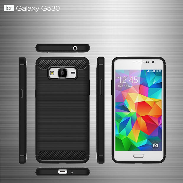 Luxury Soft Carbon Fiber Cases For Samsung Galaxy Grand Prime Case TPU Coque Fundas For Samsung Galaxy Grand Prime Cover P35
