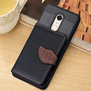 Luxury Soft TPU Phone Case With Card Slot Phone Holder Back Cover For Xiaomi Mi Redmi 4A 4X 5 5 Plus 5A Redmi Noted 5A Case