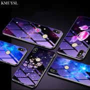 Luxury Starry Sky Tempered Glass Case For Xiaomi Mi 8 SE A1 A2 Lite 5X 6X Redmi Note 5 4X 4 Redmi 6A 6 Pro 5A S2 5 Plus Shell