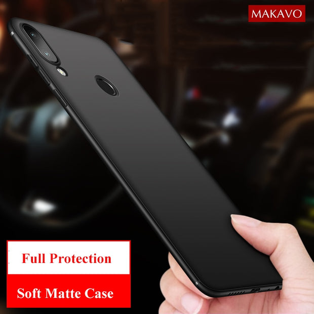 MAKAVO For Huawei Y7 Prime 2019 Case Full Protection Soft Silicone Matte  Cover For Huawei Y7 Pro 2019 Phone Case