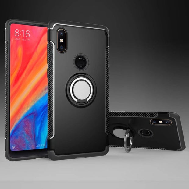 MAKEULIKE Case For Xiaomi Mi Mix 2S Cover Ring Armor Kickstand Phone Back Cases For Xiaomi Mi Mix 2 2S Capinhas