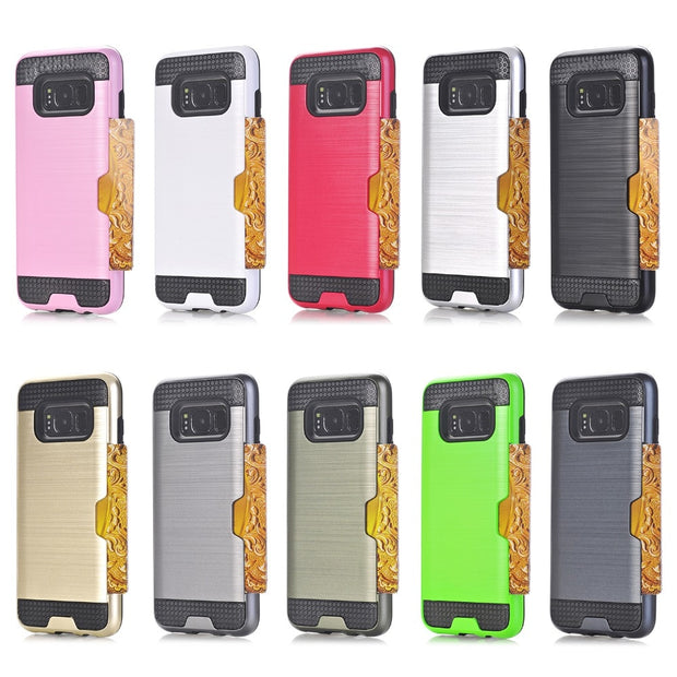 MXHYQ Brushed Protect The Back Of The Shell Can Be Inserted Into The Wallet For SAMSUNG Galaxy S8 S8 Plus For Phone Cases 088