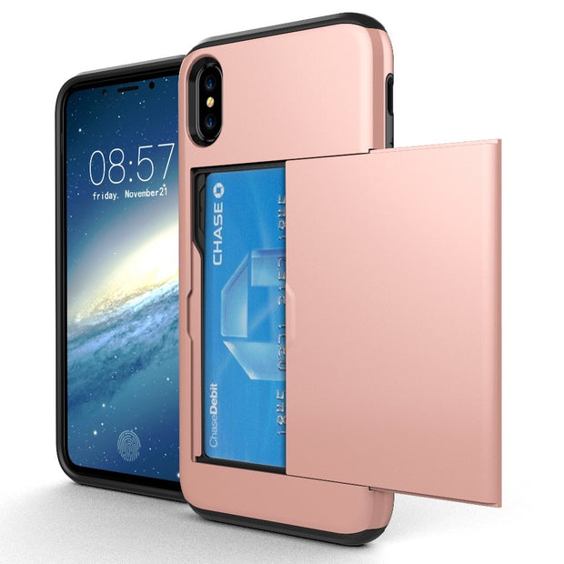 MXHYQ Protect The Back Of The Shell Can Be Inserted Into The Wallet For Iphone X For Phone Cases 086