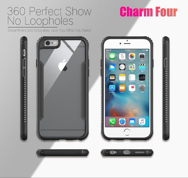 MXHYQ Luxurious Shockproof Tempered Glass Case For Iphone 6 6s 6 Plus 6s Plus For Phone Cases