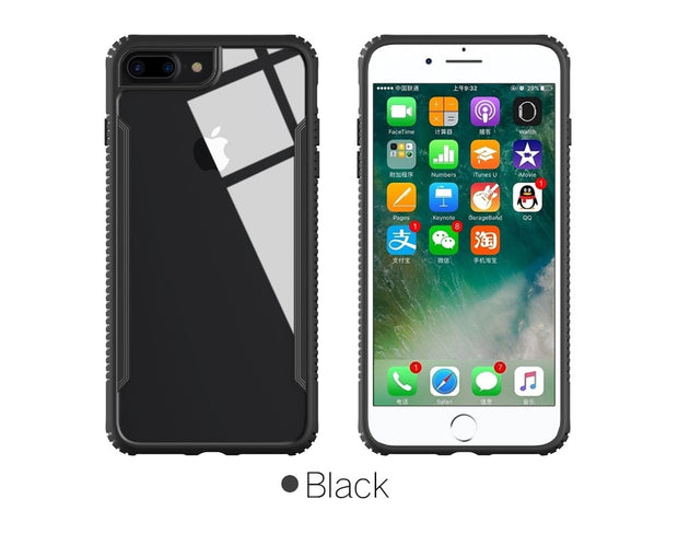 MXHYQ Luxurious Shockproof Tempered Glass Case For Iphone 7 8 7 Plus 8 Plus For Phone Cases