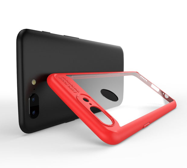 MXHYQ Luxurious Two In One Anti-drop Transparent Silicone Case For One Plus 5T For Phone Cases