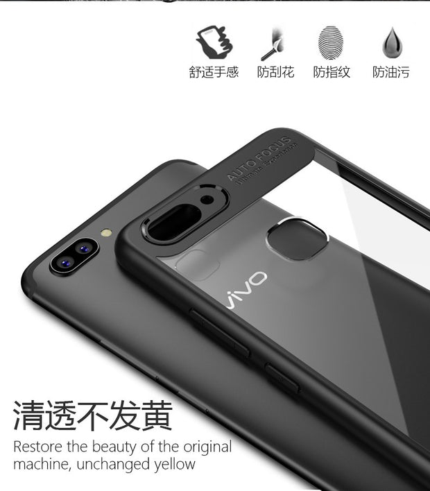 MXHYQ Luxurious Two In One Anti-drop Transparent Silicone Case For Vivo X20 For Phone Cases