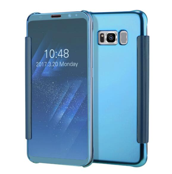 MXHYQ Luxury Electroplated Leather Case Smart Sleep Wake Up Cover Case For SAMSUNG Galaxy S6/S7 Edge Note 5/8 For Phone Cases