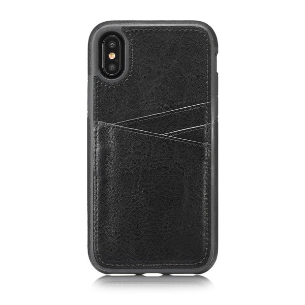 MXHYQ Luxury Leather Retro Protect The Back Pluggable Card Case For Iphone X For Phone Cases