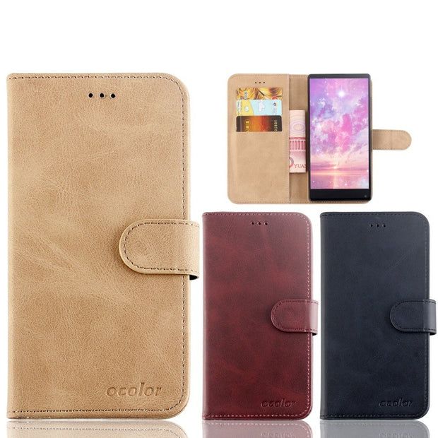 MXHYQ Luxury Leather Voltage Left And Right Flip Pluggable Card Wallet Case For BluBoo S1 For Phone Cases Cover