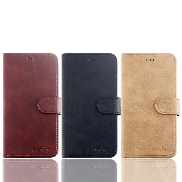 MXHYQ Luxury Leather Voltage Left And Right Flip Pluggable Card Wallet Case For Cubot H3 For Phone Cases Cover
