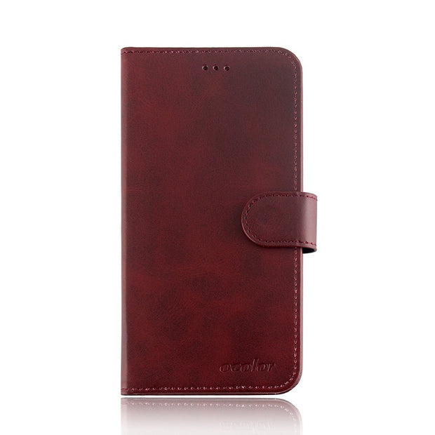 MXHYQ Luxury Leather Voltage Left And Right Flip Pluggable Card Wallet Case For LEAGOO M9 For Phone Cases Cover
