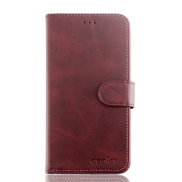 MXHYQ Luxury Leather Voltage Left And Right Flip Pluggable Card Wallet Case For LEAGOO S9 For Phone Cases Cover