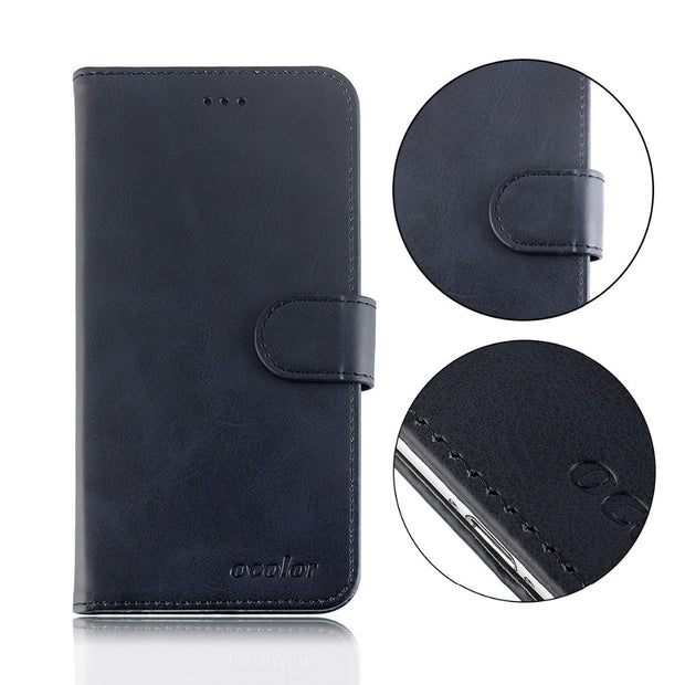 MXHYQ Luxury Leather Voltage Left And Right Flip Pluggable Card Wallet Case For LEAGOO Z6 For Phone Cases Cover