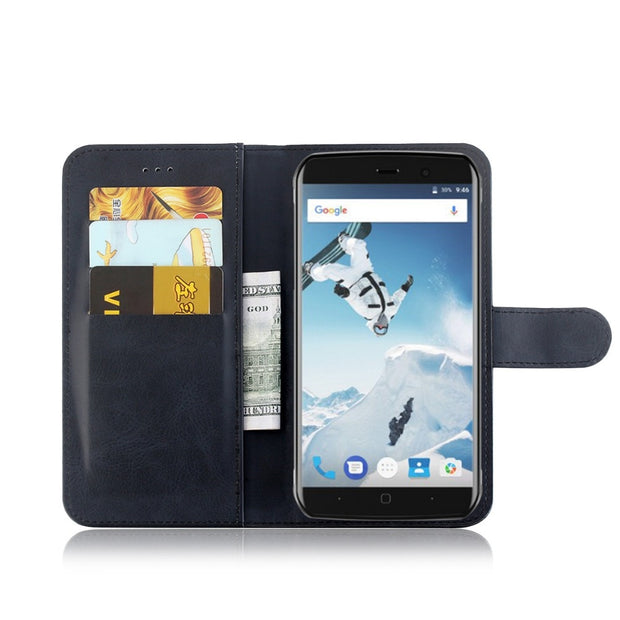 MXHYQ Luxury Leather Voltage Left And Right Flip Pluggable Card Wallet Case For Vernee Active For Phone Cases Cover
