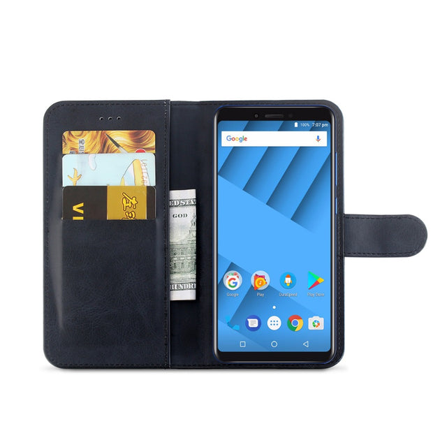 MXHYQ Luxury Leather Voltage Left And Right Flip Pluggable Card Wallet Case For Vernee M6 For Phone Cases Cover