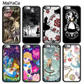 MaiYaCa Alice In Wonderland Cartoon Print Soft Rubber Skin Phone Cases For IPhone 6S 7 8 Plus X XR XS MAX 5S SE Back Cover Coque