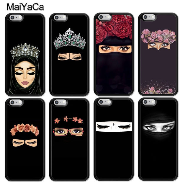MaiYaCa Arab Woman Niqab Face Eye Printed Soft Rubber Skin Phone Cases For IPhone 6S 7 8 Plus X XR XS MAX 5S SE Back Cover Coque
