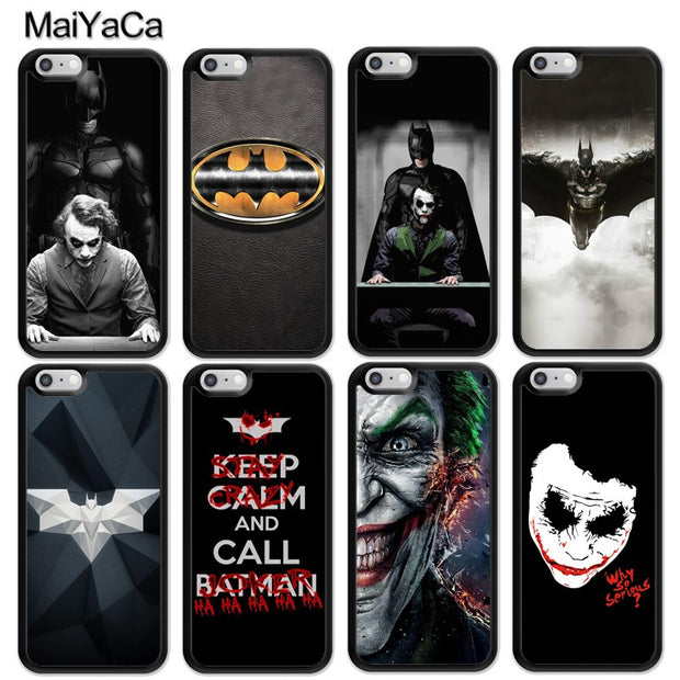 MaiYaCa Batman Joker Logo Marvel Hero Soft Rubber Skin Cell Phone Cases For IPhone 6S 7 8 Plus X XR XS MAX 5 SE Back Cover Coque