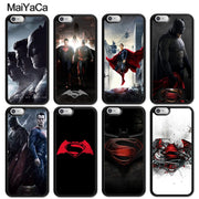 MaiYaCa Batman V Superman Superhero Printed Soft Rubber Skin Phone Cases For IPhone 6S 7 8 Plus X XR XS MAX SE Back Cover Coque