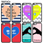 MaiYaCa Best Friends Besties Heart Pair Matching Mobile Phone Cases OEM For IPhone 6S 7 8 Plus X XR XS MAX SE Soft Rubber Cover