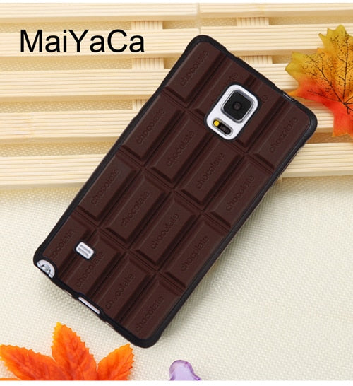 MaiYaCa Choco Toast Foodie Chocolate Phone Cases For Samsung Galaxy S5 S6  S7 Edge S8 S9 Plus Note 9 5 8 Soft Rubber Cover Shell