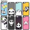 MaiYaCa Cute Panda Animals Printed Luxury Mobile Phone Cases For IPhone 6 6S Plus 7 8 Plus X XR XS MAX 5 5S SE Soft Rubber Cover