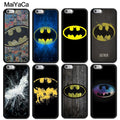 MaiYaCa DC Batman Logo Comics Printed Luxury Mobile Phone Cases OEM For IPhone 6S 7 8 Plus X XR XS MAX 5S SE Soft Rubber Cover