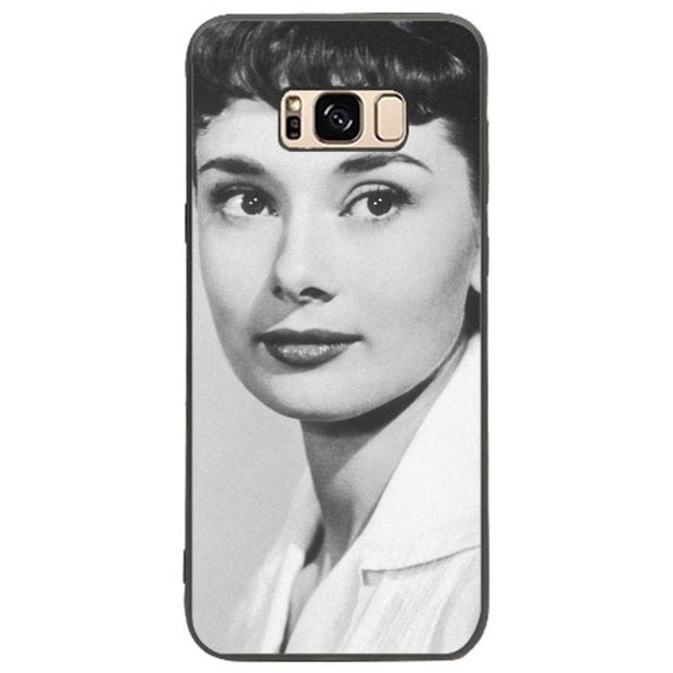 MaiYaCa Fashion Audrey Hepburn TPU Soft Silicone Black Phone Case Cover For Samsung Galaxy S9 S8 S7 S6 S5 Phome Case