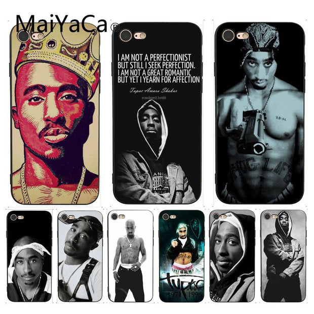 release date: 54280 47ed6 MaiYaCa For Iphone 7 6 X Case 2Pac Tupac Amaru Shakur Makaveli Coque Phone  Case For IPhone 7 X 6S 7 7plus 8 8Plus XS XR SE Case