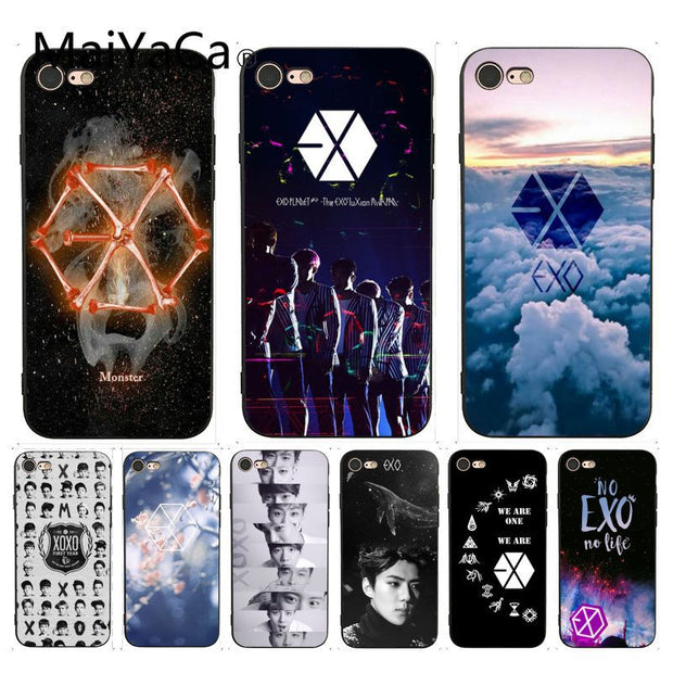 Maiyaca For Iphone 7 6 X Case Kpop Exo Lucky One Coque Shell Phone Cas Charcoal Cases
