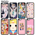 MaiYaCa Funny Sailor Moon Crystal Sailor Mars Luxury Mobile Phone Cases For IPhone 6S 7 8 Plus X XR XS MAX SE Soft Rubber Cover