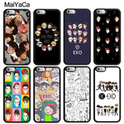 MaiYaCa Kpop EXO Cartoon Printed Luxury Mobile Phone Cases For IPhone 6 6S Plus 7 8 Plus X XR XS MAX 5 5S SE Soft Rubber Cover