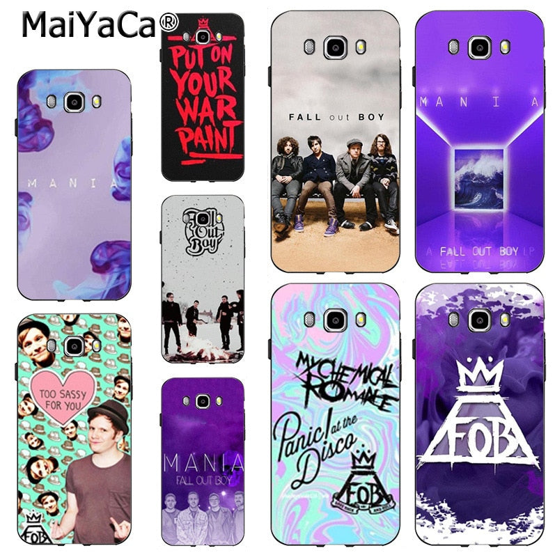 new products c2e17 d3f2c MaiYaCa Popular Star Fall Out Boy Patrick Stump Original Plastic PC Phone  Case For Samsung J5 J120 J3 J7 Note 3 Note4 Note5 Case
