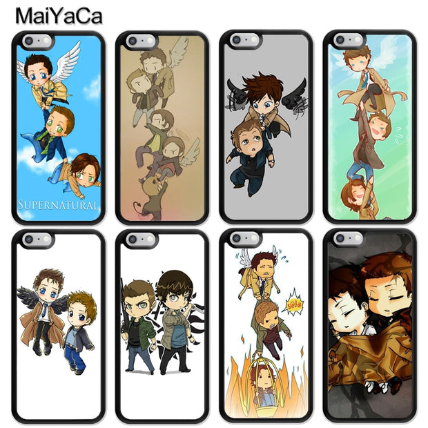 MaiYaCa Supernatural Castiel Dean Sam Cartoon Soft Rubber Phone Cases For IPhone 6S 7 8 Plus X XR XS MAX 5S SE Back Cover Coque