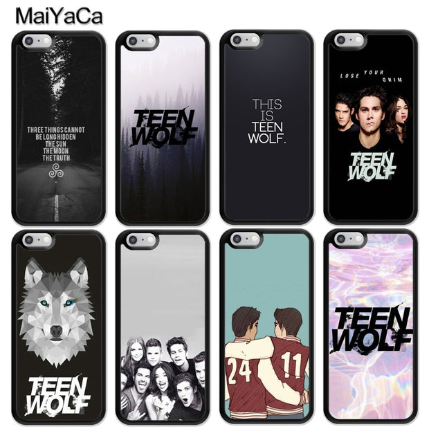 MaiYaCa Teen Wolf TV Hot Printed Luxury Mobile Phone Cases For IPhone 6 6S Plus 7 8 Plus X XR XS MAX 5 5S SE Soft Rubber Cover