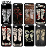 MaiYaCa The Walking Dead Daryl Dixon Wings Printed Luxury Phone Cases For IPhone 6S 7 8 Plus X XR XS MAX 5S SE Soft Rubber Cover