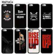MaiYaCa The Walking Dead Negan Printed Soft Rubber Skin Phone Cases For IPhone 6 6S 7 8 Plus X XR XS MAX 5S SE Back Cover Coque