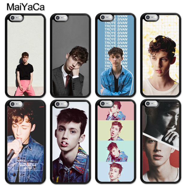 MaiYaCa Troye Sivan Printed Luxury Mobile Phone Cases For IPhone 6 6S Plus 7 8 Plus X XR XS MAX 5 5S SE Soft Rubber Cover