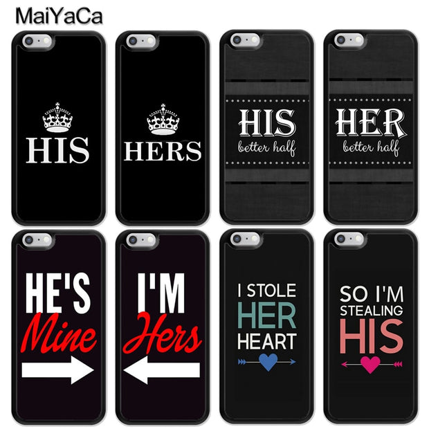 MaiYaCa His Hers Best Friends Printed Soft Rubber Skin Phone Cases For IPhone 6 6S 7 8 Plus X XR XS MAX 5 5S SE Back Cover Coque