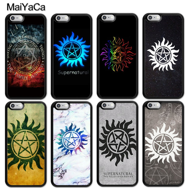 MaiYaCa Supernatural Anti Possession Symbol Printed Mobile Phone Cases For  IPhone 6S 7 8 Plus X XR XS MAX 5 SE Soft Rubber Cover