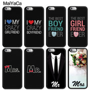 MaiYaCa Wedding Dress Lover Mr Mrs Printed Soft Rubber Phone Cases For IPhone 6 6S 7 8 Plus X XR XS MAX 5S SE Back Cover Coque