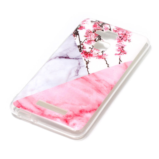 Marble Floral Case For ASUS Zenfone ZC520TL Back Phone Shells For Coque Asus ZC520TL Case Protector Silicone Capinha Etui