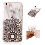 Marble Floral Soft Case For IPhone 6 6S Plus Case Silicone Red Stone Cover For Fundas Apple Iphone 6 6s Plus Capinha Etui