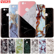 Marble Soft Case For Fundas Huawei Nova Pink White Black Flatten Stone Floral Case For Coque Huawei Nova Silicone Capinha Etui