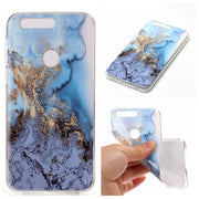 Marble Soft Case For Huawei Honor 8 Back Phone Cover Shells For Fundas Honor 8 Black Bule Stone Silicone Capinha Etui
