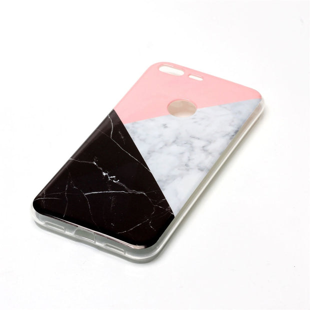 Marble Soft Case For Google Pixel XL Silicone Mobile Phone Back Cover For Fundas Google Pixel XL Black Flower Capinha Etui