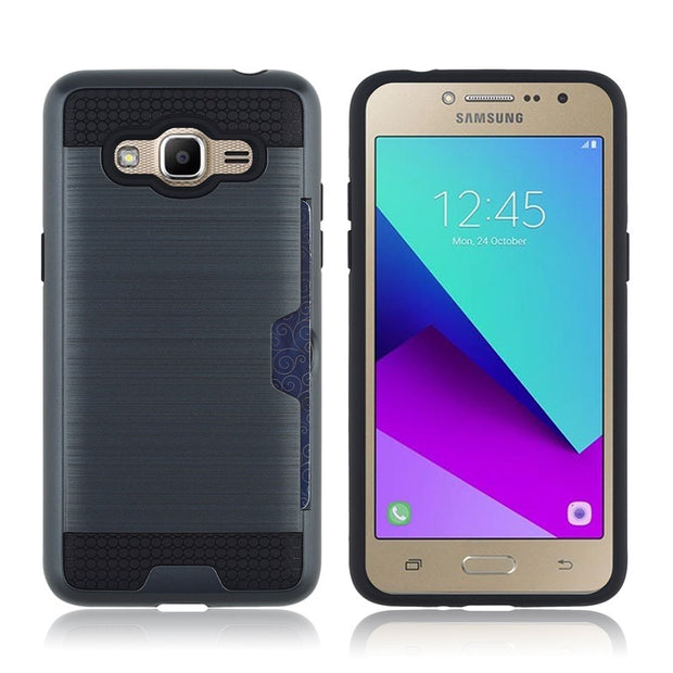 Metallic Color Case For Samsung Galaxy J2 Prime Case Cover Silicone Bumper Shell Shockproof Hard Case For Samsung J2 Prime G532F